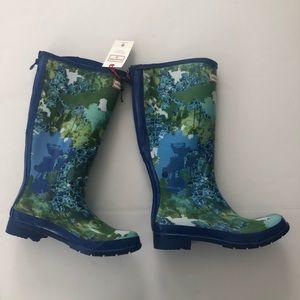 Hunter for Target Women 9 Blue Tall Zip Rain Boots